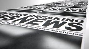 Funzionamento della stampa del giornale Fotografia Stock Libera da Diritti