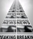 Funzionamento della stampa del giornale Fotografie Stock Libere da Diritti