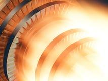 funzionamento della turbina a gas del motore Fotografie Stock Libere da Diritti