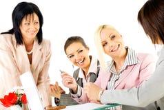 Funzionamento delle donne di affari Immagini Stock