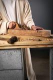 Funzionamento delle mani del Jesus Fotografie Stock