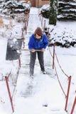 Funzionamento di inverno Immagini Stock