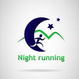 Funzionamento di notte di logo Fotografie Stock Libere da Diritti