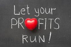 Funzionamento di profitti immagine stock