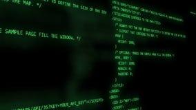 Funzionamento di programmazione di codice stock footage