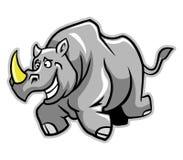 Funzionamento di rinoceronte royalty illustrazione gratis
