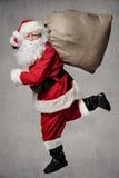 Funzionamento di Santa Claus fotografia stock