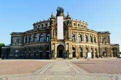 Funzionamento di Semper, Dresda Immagine Stock Libera da Diritti