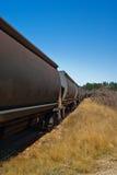 Funzionamento di treno lungo Fotografia Stock Libera da Diritti