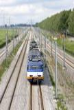 Funzionamento di treno in Olanda Immagini Stock