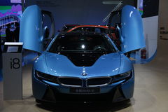 Funzionamento eccellente di BMW i8 Fotografie Stock Libere da Diritti