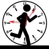 Funzionamento ed orologio Fotografia Stock