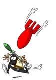 Funzionamento militante a partire dalla bomba Immagini Stock