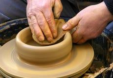 Funzionamento per concentrarsi argilla Fotografia Stock