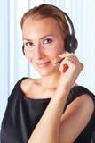 Funzionamento rappresentativo di servizio di assistenza al cliente femminile Fotografie Stock