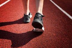 Funzionamento su una pista, campionato della sportiva del mondo nel concetto corrente Fotografia Stock Libera da Diritti