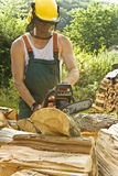 Funzionando con il legno Immagine Stock
