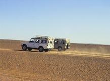 Funzionando nel Sahara Immagini Stock