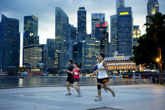 Funzionando a Singapore Fotografia Stock