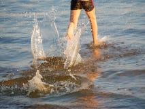 Funzionando sull'acqua Immagine Stock Libera da Diritti