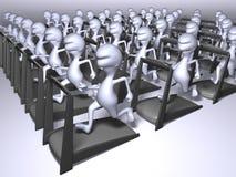 Funzionare dei cloni Immagini Stock