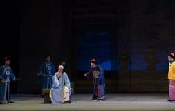 "Funzionari e Shan di sacerdote-Shanxi Operatic""Fu del taoista al  di Beijing†Fotografia Stock"