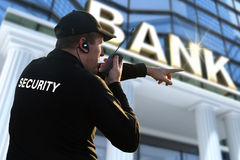 Funzionario di sicurezza della Banca Fotografia Stock Libera da Diritti