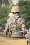 Funzionario militare in servizio Fotografia Stock
