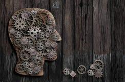 Funzione del cervello, psicologia, memoria o concezione mentale di attività fotografia stock libera da diritti