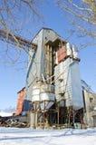 Funzione elaborante del granulo industriale nell'orario invernale Fotografia Stock Libera da Diritti
