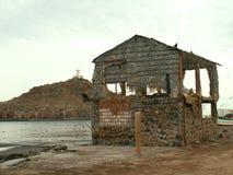 Funzioni giù la baracca la Bassa California Sur, Messico della costruzione Fotografia Stock Libera da Diritti