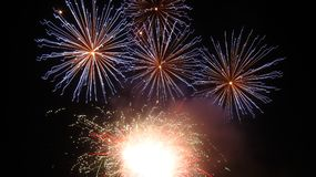 Fuochi d'artificio fotografia stock