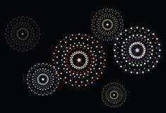Fuochi d'artificio 2 della stella di vettore Fotografie Stock