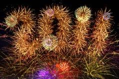 Fuochi d'artificio 2011 Fotografia Stock Libera da Diritti