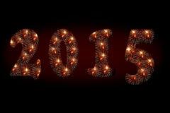 2015 fuochi d'artificio Fotografie Stock Libere da Diritti