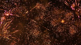 Fuochi d'artificio 21 stock footage