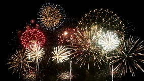 Fuochi d'artificio stock footage