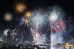 Fuochi d'artificio 2015 Fotografia Stock Libera da Diritti