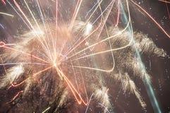 2017 fuochi d'artificio Fotografie Stock Libere da Diritti