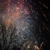 2017 fuochi d'artificio Fotografia Stock Libera da Diritti