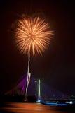 Fuochi d'artificio al festival 2011 di Putrajaya Floria Fotografia Stock