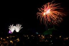 Fuochi d'artificio al regno magico Fotografia Stock Libera da Diritti