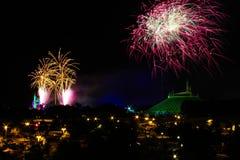 Fuochi d'artificio al regno magico Immagine Stock