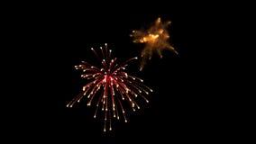 Fuochi d'artificio alfa video d archivio
