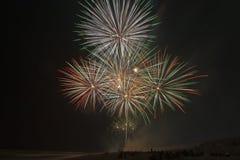 Fuochi d'artificio alla spiaggia Immagine Stock Libera da Diritti
