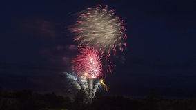 Fuochi d'artificio alle celebrazioni di giorno del Canada Immagini Stock Libere da Diritti