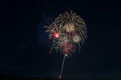 Fuochi d'artificio americani Fotografie Stock