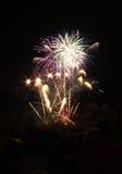 Fuochi d'artificio in azzurro Fotografie Stock Libere da Diritti