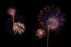 Fuochi d'artificio belli fotografie stock libere da diritti