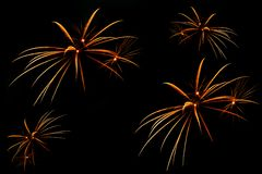 Fuochi d'artificio belli Fotografia Stock